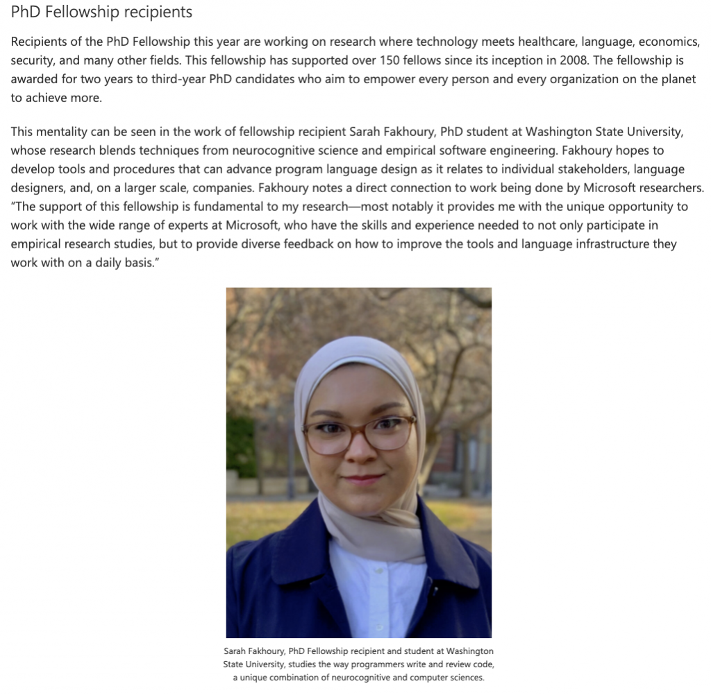 Sarah-MSR-PhD-Fellowship